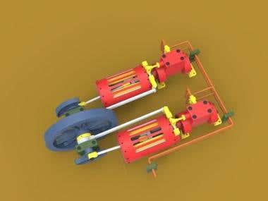 Dual Horizontal Steam Engine