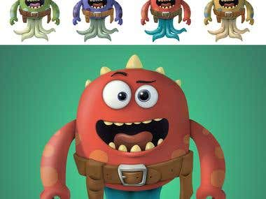 Concept design for a Cartoon Monster