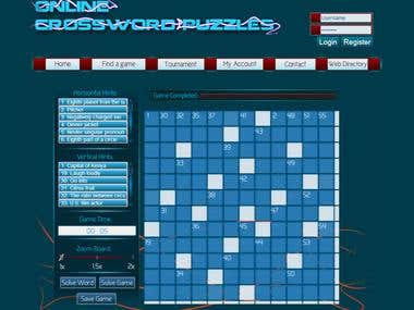 Online crossword puzzles
