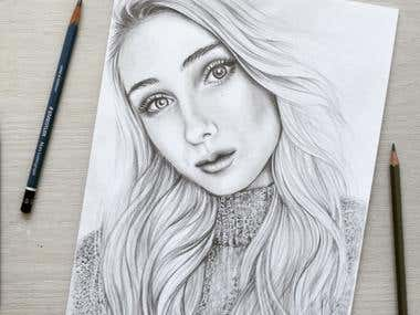 Portrait drawing - Graphite