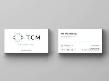 Business card TCM LLC