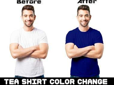 Tea-shirt Color Change