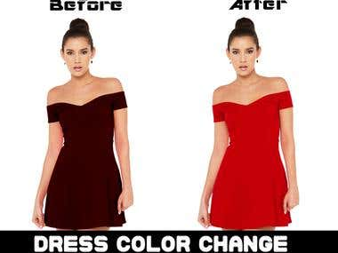 Model Dress Color Change..