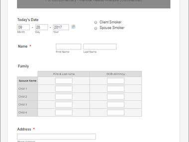 Online Web Forms
