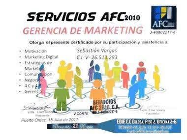 Titulo de gerencia de marketing en Servicios AFC2010
