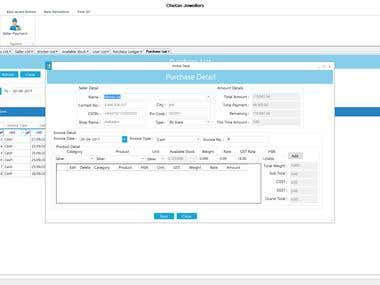 Silver GST Invoice,Job Work and Stock Management Software