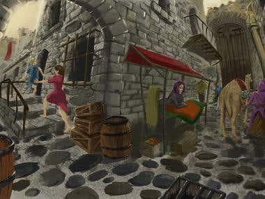 Little Red hood Castle scenario.