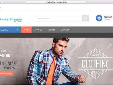 ecommerce website : Boostinglifeproducts Pvt Ltd