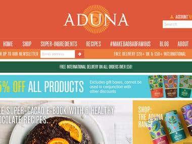 https://aduna.com - Shopify