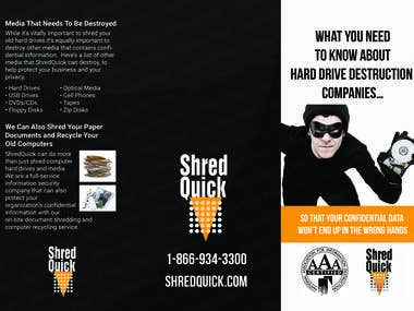 Brochure designing for shred process