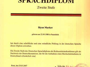 German Language Diploma from Goethe-Institut