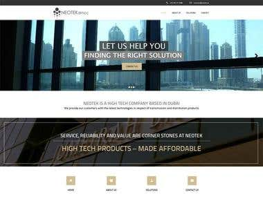 WordPress Website (altus theme)