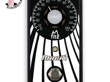 Illustration design for guitar pedal