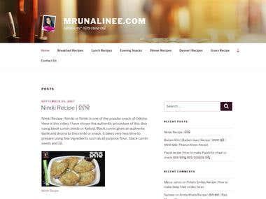Mrunalinee.com - A blogging site for recipes