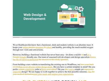 Proofreading Web Design Content