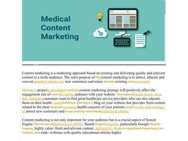 Medical Text Proofreading
