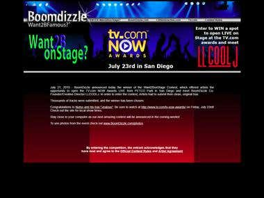 Boomdizzle - Want2BonStage Contest Page