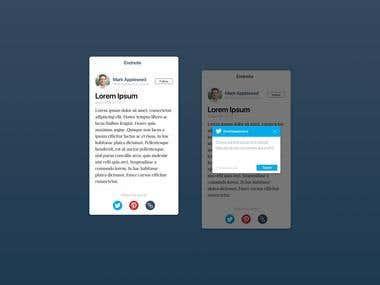 Social Share design