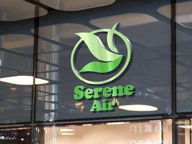 logo for serene air company