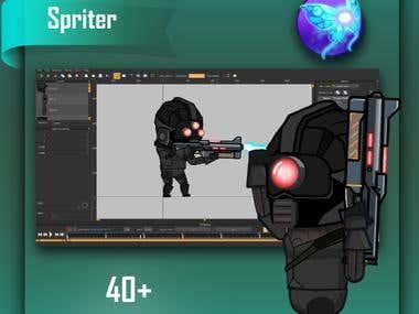 Cyberpunk Black Soldier
