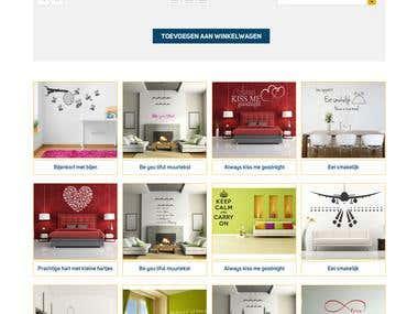 home page design plak letters