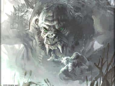 GREENEYE TROLL BY LUCE GRAFIC ART