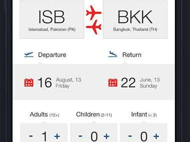 Booking Flights Application