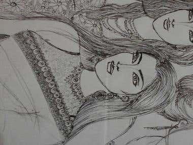 Pen drawing ..