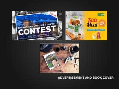 Advertisement and Book Cover Designs