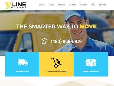 Packing & Moving Company Website