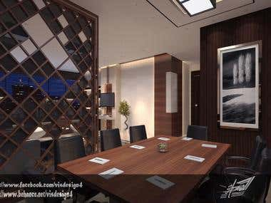 Design of office and meeting room