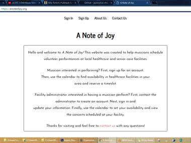 A Note of Joy