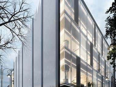 Dynamic facade design (anti-blast system)