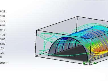 wind loads with SOLIDWORKS