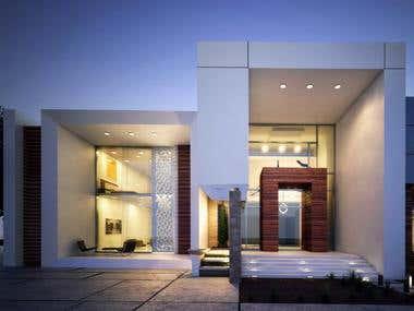 Modern villa in KSA.