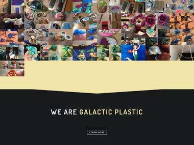 Galactice Plastice Website created for client