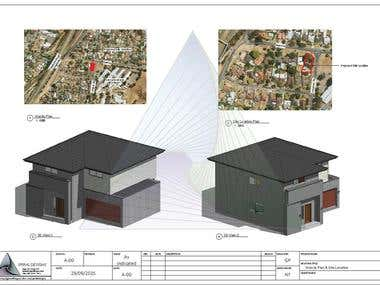 Proposed Subdivision Plan and New Residence (Architectural)