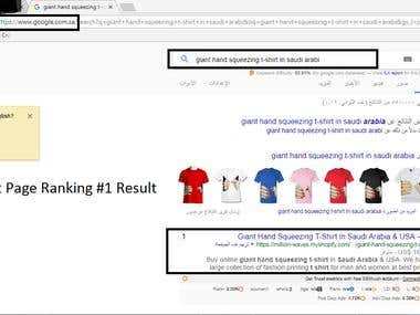 #1 Ranking Result - Promising Guaranteed 1st Page Rank