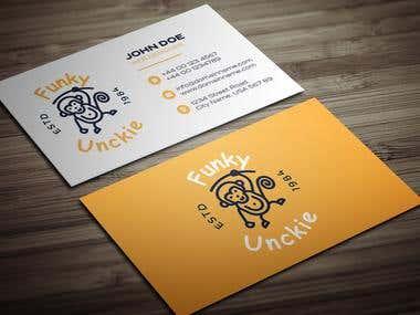 Funky Unckie Logo Design