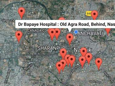 Eye Hospital Search Android App