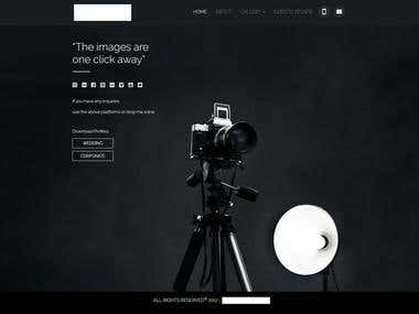 Stunning photographer's website
