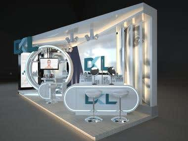 DESIGN MEDICAL AESTHTICS BOOTH FOR EXHIBITION