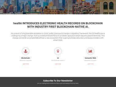 WordPress Website for healthi.cloud