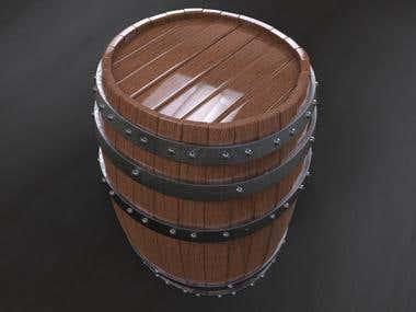 High poly Barrel