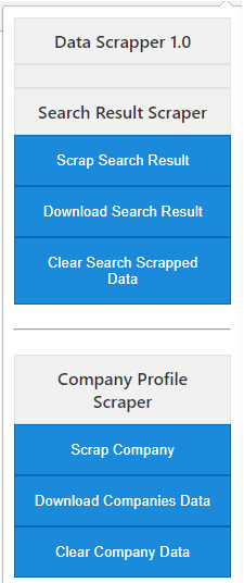 Chrome extension for B2B portal data scraping