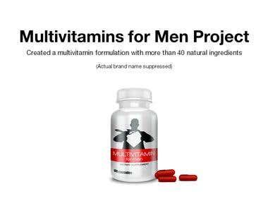 Multivitamins for Men Project