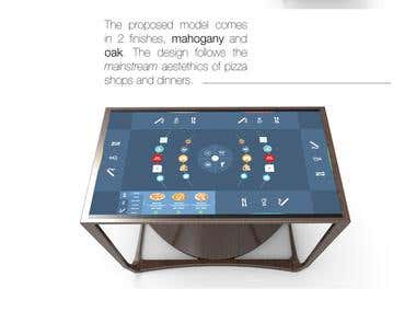 Touchscreen dinner table