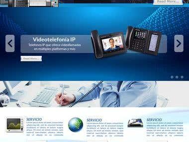 Diseño Grafico de sitio WEB | Tellcrom | Telecomunicaciones