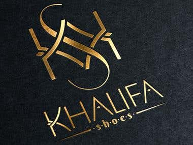 Logo design for Khalifa - a shoe brand.