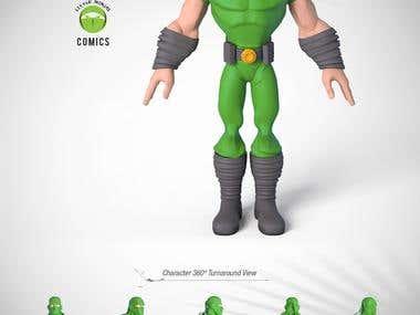 Ninja 3D Toy Character